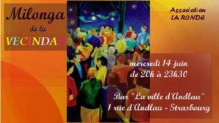 Mercredi 14 à 20h – Milonga de la Vecindad
