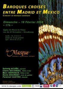 Dimanche 18 – 17h à 20h – Concert – Baroques croisés entre Madrid et Mexique