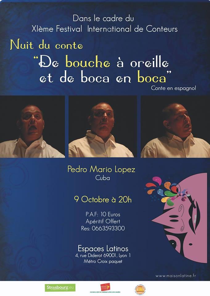 Mardi 9 – 20h à 22h – Pedro Mario en avant première du Festival à Lyon