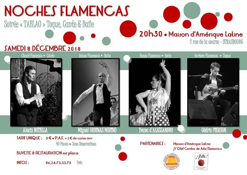 Samedi 8 – 19:00 à 20:00 – Tablao flamenco – Y Olé au Café Latino
