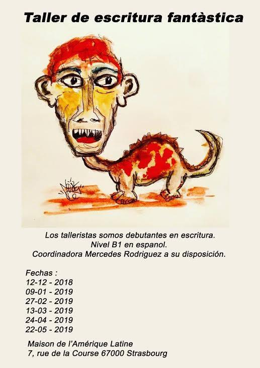 Mercredi 27 – 18:30 à 20:30 hrs – Taller de escritura fantástica Animado por Mercedes Rodríquez