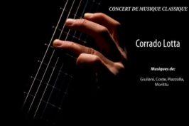 Vendredi 30 à 21h – Concert de musique classique – Corrado Lotta Italien – Guitarre