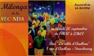 mercredi 20 de 19:30 à 23:00 – Milonga de la vecindad organisé para «La Ronda»