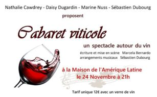 vendredi 24 de 21:00 à 22:30 – Cabaret viticole