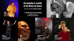 Dimanche 14 – 22h30 à 23h30 – La totale -Todos los narradores del festival- En español