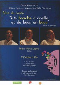 Read more about the article Mardi 9 – 20h à 22h – Pedro Mario en avant première du Festival à Lyon