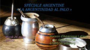 Mardi 26 – 20:00 à 22:00 hrs-  Spéciale «Argentine» (La argentinidad al palo!)